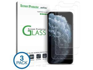 Glass Screen Protector for iPhone 11 Pro, XS, X (5.8 Inch) (3 Pack) iPhone 11 Pro, 10s, 10 Tempered Glass with Easy Installation Tray
