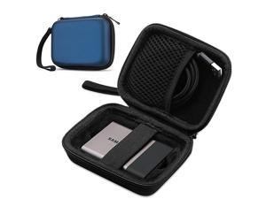 Carrying Case for Samsung T5 T3 SSD Compact Hard Shockproof Carry Case for T5 T3 T1 Portable SSD 250GB 500GB 1TB 2TB USB 31 Type C Hard Drive Navy