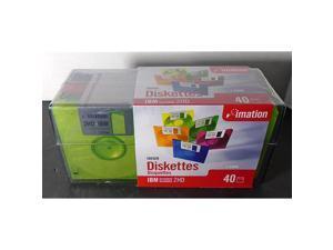 """3.5"""" Diskettes, Neon, 40PK, 2HD, 1.44MB"""