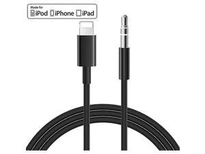 MFi Certified iPhone AUX Cord for Car Stereo Lightning to 35mm Audio Cable Compatible for iPhone 1111 ProXSXRX 8 7 6iPad iPod to Speaker Home Stereo Headphone Support iOS 13 Black