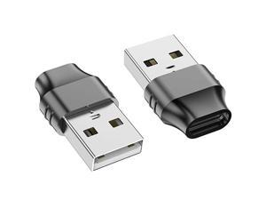 USB C Female to USB Male Adapter 2Pack Type C to USB A Charger Cable Connector Compatible with iPhone 11 12 Pro MaxiPad AirProSamsung Galaxy S20 S21 Plus Note 10 20Google Pixel 5 4 3 XL