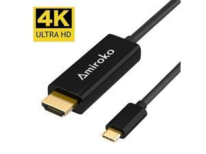 USB C to HDMI Cable 6FT  USB 31 Type C Thunderbolt 3 Compatible to HDMI 4K Cable for MacBook Pro 2016 MacBook 12quot Chromebook Pixel Galaxy S8S8+ etc to HDTV Monitor Projector