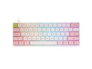 SK61 Pink Hotswap Mechanical Gaming Keyboard with Optical Switch, RGB, Programmable Custom Keyboard (Gateron Blue Switch, Pink 61 Keys)