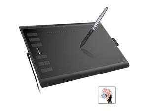 Inspiroy H1060P 10 x 6.25 Inches Graphic Drawing Pen Tablet with 8192 Levels Pen Pressure 12 Express Keys - Upgraded Version
