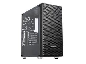 C650 ATX MidTower PC Gaming Case Magnetic Dust Filter Full Transparent Acrylic Side Panel WaterCooling Ready with One 140mm PreInstalled Fan