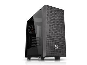 Core G21 Tempered Glass SPCC ATX Mid Tower Tt LCS Certified Gaming Computer Chassis Cases CA-1I4-00M1WN-00