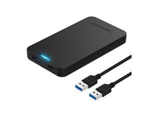 25Inch SATA to USB 30 ToolFree External Hard Drive Enclosure Optimized for SSD Support UASP SATA III Black ECUASP