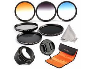 Concept 62mm 6pcs Lens Filter Kit ND2 ND4 ND8 Neutral Density ND Filter Slim Graduated Color Blue Orange Gray for DSLR Camera