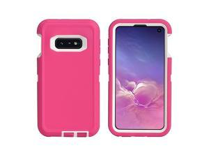 """Cover Compatible with Samsung Galaxy S10E (5.8"""")   Holster Case Series   Military Grade Heavy-Duty Protection with Belt Clip Holder   Protective Rugged Shockproof Drop-Proof   Pink/White"""