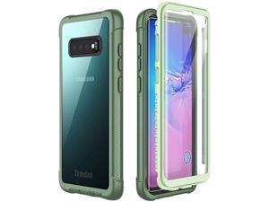 Samsung Galaxy S10 Plus Case Builtin Screen Protector with Fingerprint Hole Full Body Protect Support Wireless ChargingHeavy Duty Dropproof Case for Samsung Galaxy S10 Plus 64 inch Green