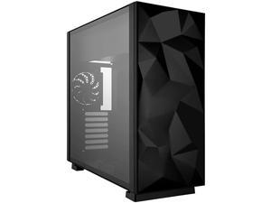 ATX Mid Tower Gaming PC Computer Case with 2 x 120mm Fans Supports up to 6 240mm AIO Support EATX Support Top Mount PSU amp HDDSSD Tempered Glass amp Black Steel Prism SBlackLITE