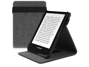 Cover Compatible with Pocketbook Touch Lux 4Lux 5Touch HD 3Color 2020 PU Leather eReader Case Fabric Dark Grey