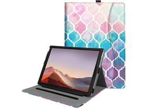 Case for Microsoft Surface Pro 7 Surface Pro 6 Surface Pro 5 Pro 4 3 Multiple Angle Viewing Folio Stand Cover with Card Pocket Compatible with Type Cover Keyboard Moroccan Love