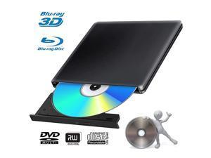 3D Blu Ray DVD Drive Burner Portable Ultra Slim USB 30 Blu Ray BD CD DVD Burner Player Writer Reader Disk for Mac OS Windows 78110 Linxus Laptop PC