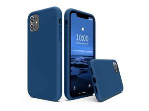 Silicone Case Compatible with iPhone 11 Case 61 inch Liquid Silicone Full Body Thickening Design Phone Case with Microfiber Lining for iPhone 11 61 2019 Blue Horizon