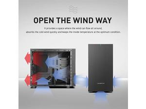 MiniTower PC Case 2 USB 30 Ports 08T High Intensity and Noise Insulation Material 5 SSD Bays S300M Super Silent PC Case with One PreInstalled 140mm and One 120mm Fans