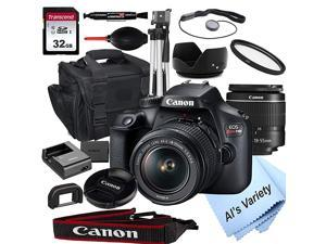 EOS Rebel T100 DSLR Camera with 18-55mm f/3.5-5.6 Zoom Lens + 32GB Card, Tripod, Case, and More (18pc Bundle)