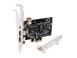 PCIE FireWire Card for Windows 98/2000/2003/XP/Vista/7/8/8.1/10/Server Desktop PCs(32/64bit)-IEEE 1394A FireWire 400-6Pin X3 Ports and 4Pin X1 Port-Include Low Profile Bracket(PCIE-1394A)