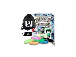 Hero Academia Gift Sets Including Drawstring Bag Backpack Lanyard Cartoon Laptop Stickers Keychains Phone Holder Luminous Bracelet Face Mask Great Gifts for MHA Fans