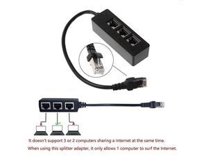 Ethernet Splitter Cable1 Male to 3 x Female LAN Ethernet Splitter Adapter Cable Suitable Super Cat5 Cat5e Cat6 Cat7 LAN Ethernet Socket Connector Adapter
