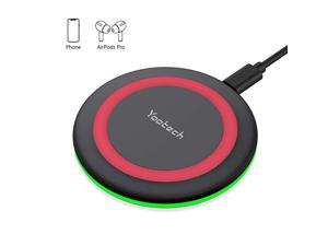 Wireless ChargerQiCertified 10W Max Fast Wireless Charging Pad Compatible with iPhone 1111 Pro11 Pro MaxXS MAXXRXSX8 Samsung Galaxy Note 10S10S9S8New AirPods ProNo AC Adapter