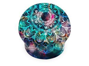 Memory Foam Non Slip Mouse Pad Wrist Rest for Office Computer Laptop amp Mac Durable amp Comfortable amp Lightweight for Easy Typing amp Pain ReliefErgonomic Support Mandala Arts