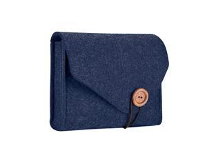 MacBook Power Adapter Case Storage Bag Felt Portable Electronics Accessories Organizer Pouch for MacBook Pro Air Laptop Power Supply Magic Mouse Charger Cable Hard Drive Power Bank Navy