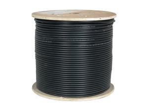 Cable CAT6A UV Rated Outdoor Bulk Cable 1000ft Black