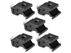 Black Metal Cold Shoe Flash Stand Adapter with 14inch 20 Tripod Screw 5 Packs
