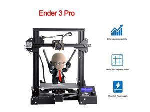 x Creality Ender3 PRO 3D Printer with Upgraded CMagnet Build Surface Plate Mat UL Certified Power Supply Extra 4 Nozzles Build Volume 220 x 220 x 250 mm