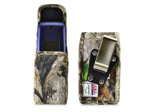 Belt Clip Case Compatible with Consumer Cellular Alcatel GO FLIP Also for ATT Cingular FLIP2 and TMobile 4044W Camoflage Vertical Holster Nylon Pouch with Heavy Duty Rotating Belt Clip