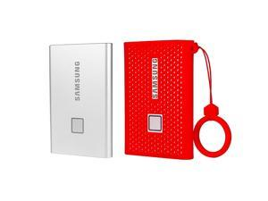 Silicone Protective Cover for Samsung T7 Touch Portable SSD  500GB1TB 2TB External Solid State Drives Red