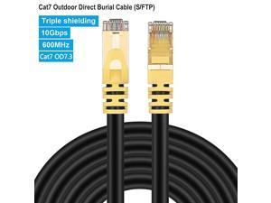 Cat 7 Internet Cable 10ft3m Cat7 Outdoor Ethernet Cable 10 ft  26AWG HeavyDuty Cat7 Networking Cord Patch Cable RJ45 Transmission Speed 10Gbps Transmission Bandwidth 600Mhz LAN Wire