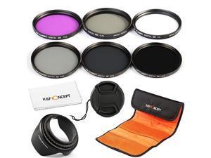 Concept 77mm Filter Slim 77mm UV Filter + Polarizing Filter Slim + Neutral Density Filter Set + Slim FLD Lens Filter Kit Compatible with Canon Nikon Digital Camera Lens