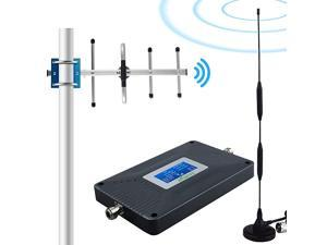 Cell Phone Signal Booster 4G LTE Cell Phone Booster Cell Signal Booster Amplifier Cell Extender Mobile Signal Booster Repeater for Home Boost Data+Voice 700MHz Band13 65dB