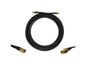 15 ft LowLoss Coax Extension Cable 50 Ohm SMA Male to SMA Female Antenna Lead Extender for 3G4GLTEHamADSBGPSRF Radio Use Not for TV or WiFi