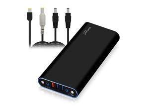EX10L 148Wh Laptop External Battery Compatible with Lenovo ThinkPad Carbon Ultrabook IdeaPad Helix Flex Yoga Laptop Notebook Power Bank Portable Charger USB QC Quick Charge Tablet Smartphone
