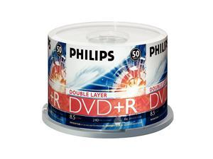 DR8S8B50F17 50 Pack 8X DVD+R DL Spindle