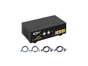 HDMI KVM Switch 2 Port Dual Monitor Extended Display 922HUA