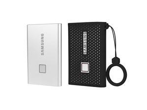 Silicone Protective Cover for Samsung T7 Touch Portable SSD 500GB1TB 2TB External Solid State Drives Black
