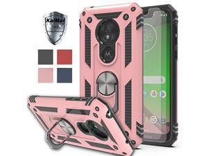 Moto G7 PowerMoto G7 Supra Case with HD Screen Protector 2Pack  360 Degree Rotating Ring Bracket Dual Layers of Shockproof TPU and Solid PC Phone Case for Motorola Moto G7 PowerRose Gold