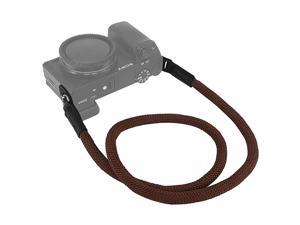 Camera Neck Strap for Panasonic S1 S1H S1R G7 G9 G85 G90 G95 GX7 GX8 GX85 GX9 GX850 GF7 GF8 GF10 GM1 GM5 GH5 Climbing Rope Coffee
