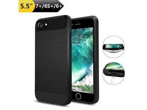 """Wireless Charger Charging Case for iPhone 7 Plus/6S Plus/6 Plus(Only for Plus Size), Qi Wireless Charging Receiver TPU Protective Phone Cover,Brushed Surface (Not Battery-5.5"""")"""