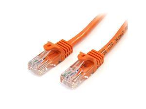 com Orange Snagless RJ45 UTP Cat 5e Patch Cable 10 Feet 45PATCH10OR