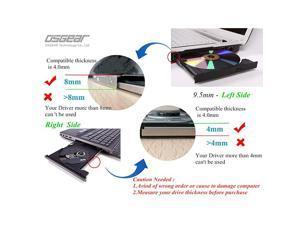 Internal 95mm slim SATA 8x DVDRW CD DVD RW Rom Burner Writer Laptop PC Optical Drive Device Tray Loading