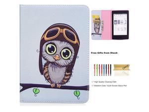 Case for Kindle Paperwhite 6 Inch Include 10th Generation 2018 7th Generation 2015 2016 6th Generation 2013 5th Generation 2012 Slim Lightweight Leather Wallet Flip Fold Cover Cute Owl