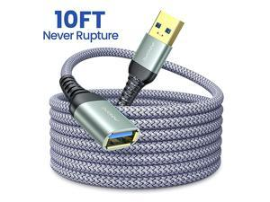 10FT USB 30 Extension Cable Type A Male to Female Extension Cord  High Data Transfer Compatible with USB KeyboardMouseFlash Drive Hard Drive