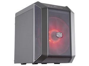 Master MasterCase H100 MiniITX PC Case with 200mm RGB Fan Fine Mesh Front Panel Builtin Handle amp RGB Lighting Control