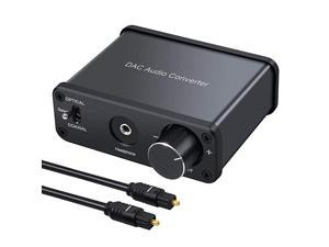 192kHz DAC Converter Digital to Analog Audio Converter with Headphone Amplifier Digital Toslink Coaxial to Analog Stereo Audio RCA 35mm RL Support Volume Adjustment