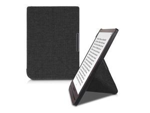 Origami Case Compatible with Pocketbook InkPad 33 Pro Slim Fabric Cover Dark Grey